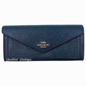 COACH Envelope Wallet In Crossgrain Leather